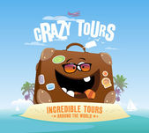 Crazy tours design template