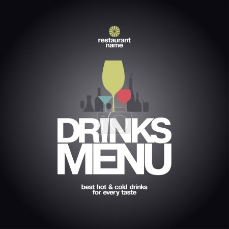 Drinks Menu Design.