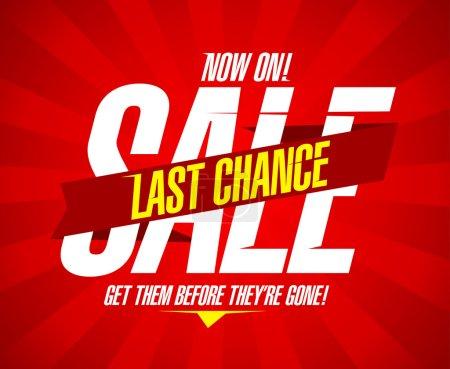 Illustration pour Maintenant, modèle de conception de vente de dernière chance - image libre de droit