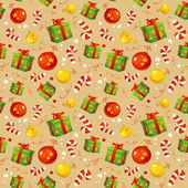 Christmas pattern with traditional symbols