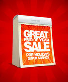 End of year sale design in form of tear-off calendar Eps10