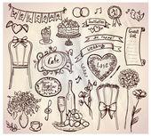 Wedding banquet graphic set