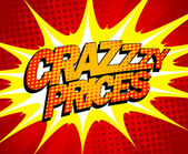Crazy prices design in pop-art style