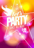 Lets party design with big star