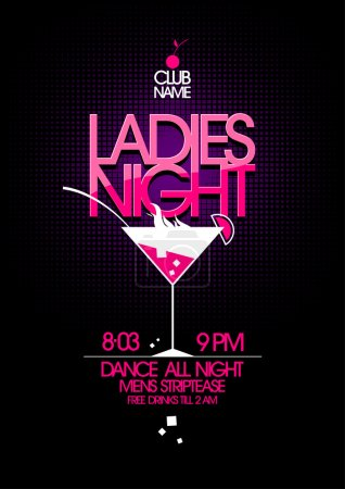 Ladies night party design.