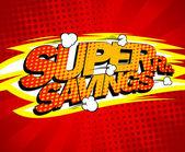 Super savings design comics style