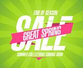 Great spring sale design in retro style