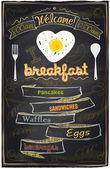 Chalk breakfast menu I love breakfast Eps10