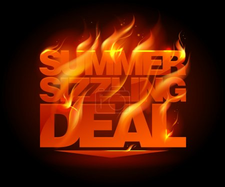 Fiery summer sizzling deal design.