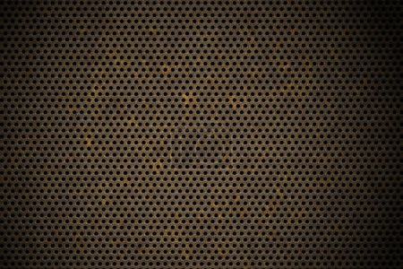 Photo for Perforated metal background - Royalty Free Image