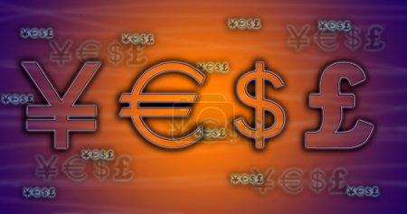 World currency exchange rates.