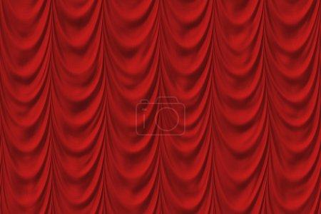 Photo pour Drainé, baissé le rideau sur la scène - image libre de droit