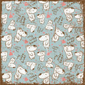 EPS10 vintage background with bears