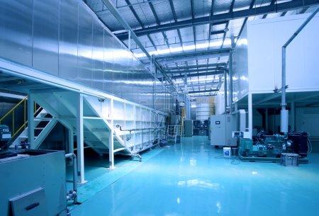 Photo pour Image avec la scène de plancher d'usine - image libre de droit