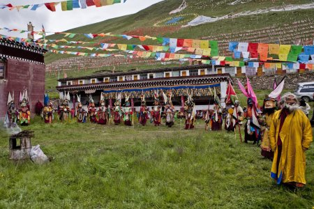 Traditional holiday in Tibet