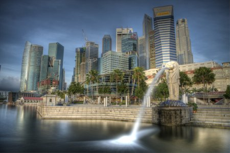 Singapore Merlion with an ND 110 Filter. The Merli...