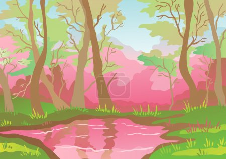 Illustration for Pink landscape - Royalty Free Image