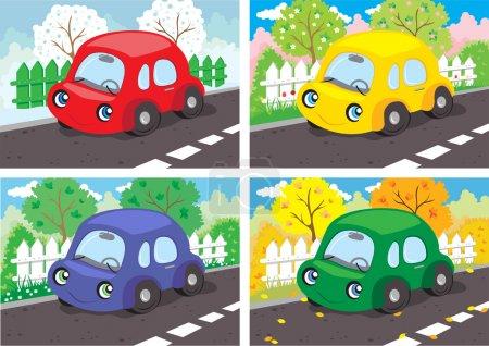 Cars. Four seasons