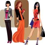 Three fashion women...