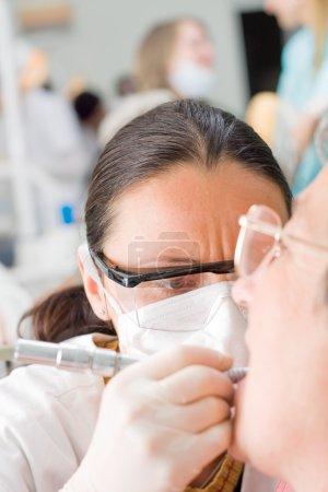 Dentist at a dental policlicic