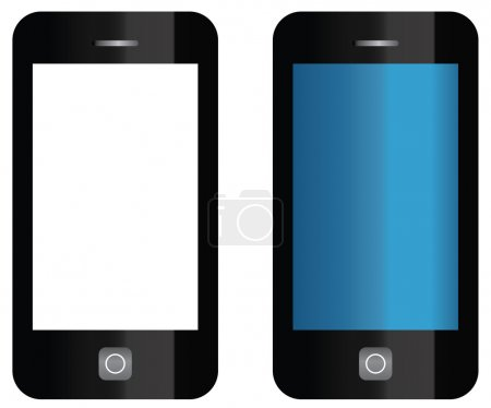 Illustration for Vector cell phone isolated - Royalty Free Image