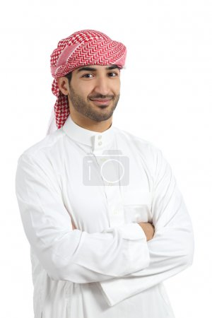 Arab man posing happy with folded arms