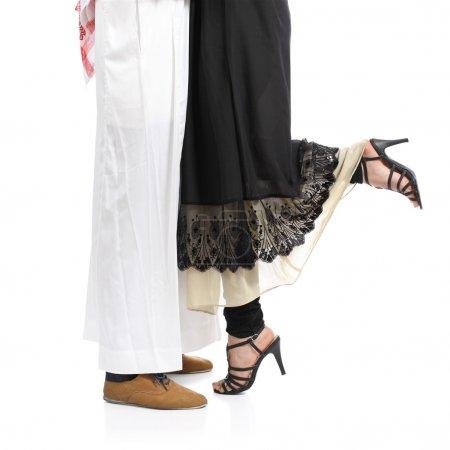 Arab saudi emirates couple legs hugging