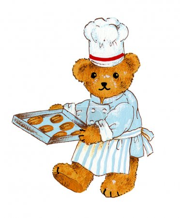 Photo for I painted the cook of the bear with a writing brush - Royalty Free Image