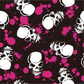 splatter and skull pattern