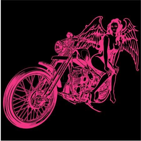 Женщина и мотоцикл
