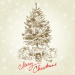 Hand drawn vintage christmas tree...