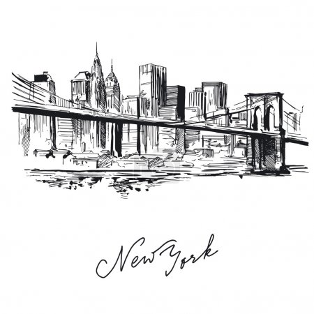 New york - hand drawn metropolis