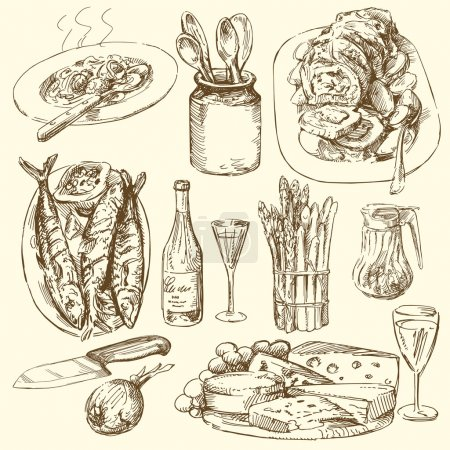 Illustration for Food collection - Royalty Free Image