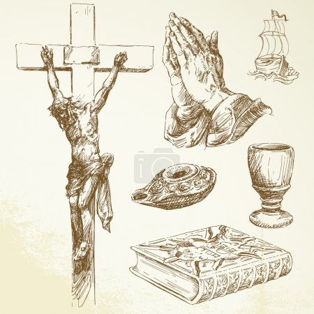 Christianity - hand drawn collection...