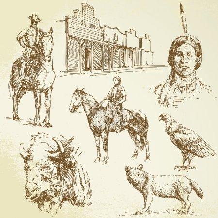 Illustration pour Ouest sauvage - image libre de droit