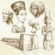 Ancient egypt - hand drawn collection...