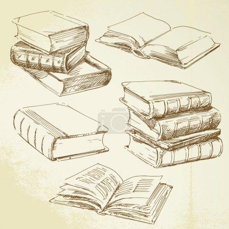 Hand drawn books