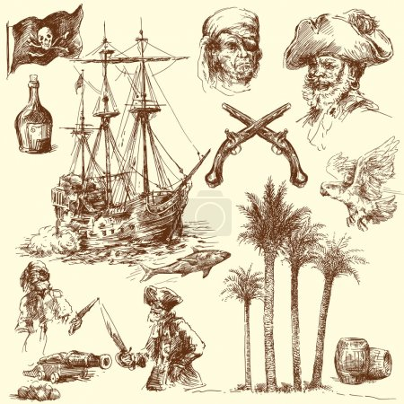 Pirates - hand drawn collection...