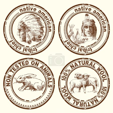 Stamps - indian chief
