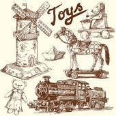 Starožitné hračky originální ručně tažené kolekce