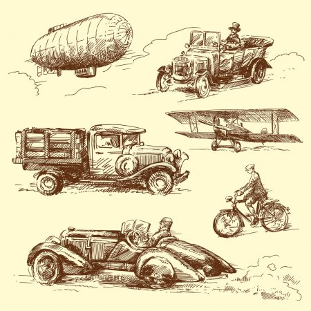 Illustration for Old vehicles - Royalty Free Image