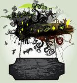 Halloween vector banner 1