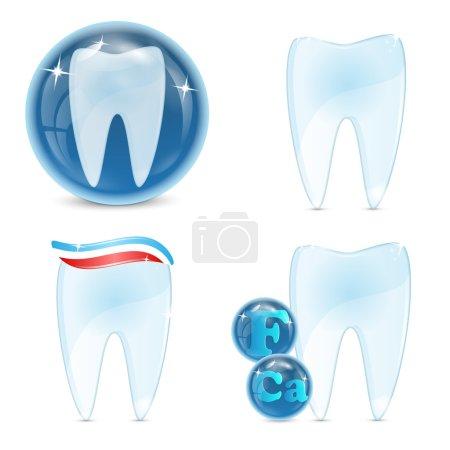 dental icons isolated on white background