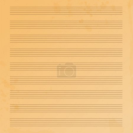 Music paper.old music paper.grunge effect.musical background.vec