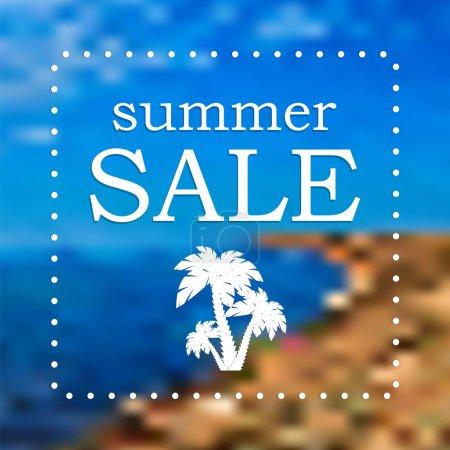 Illustration pour Saisonnière Summer Sale - image libre de droit