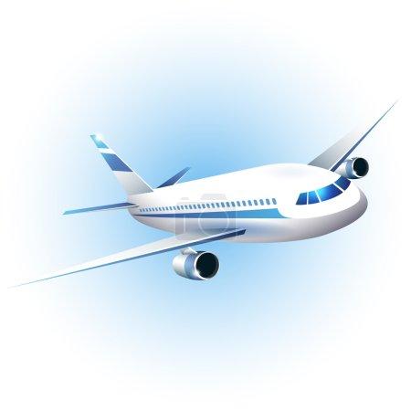 Illustration pour Illustration vectorielle de l'avion - image libre de droit