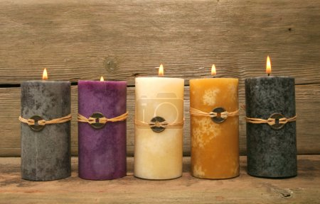 Five feng Shui candles