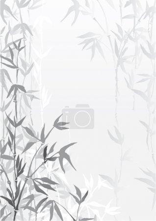 Illustration pour Oriental papier peint vecteur forêt de bambous - image libre de droit