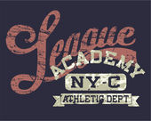 Vintage print for sportswear apparel in custom colors