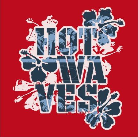 Illustration for Vector vintage artwork for t-shirt prints in custom colors - Royalty Free Image